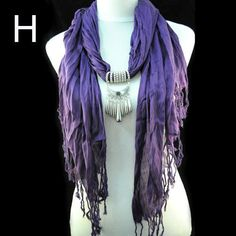dark purple artificial cotton CCB beads scarf christmas gift for sister NL-1523H #Welldone #Scarf