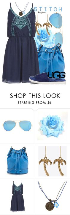 """Play With Prints In UGG: Contest Entry: Stitch (Lilo and Stitch)"" by claucrasoda ❤ liked on Polyvore featuring Ray-Ban, Neiman Marcus, Yves Saint Laurent, maurices, Disney, UGG Australia and thisisugg"