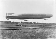 German Zeppelin LZ 77, which raided eastern England in 1915 and was shot down by anti-aircraft fire over Revigny in France on 21 February 1916.