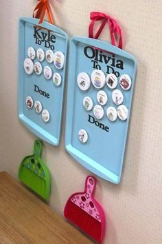 What a great idea for kids to have a visual reminder of the chores they still need to complete. Avoids the nagging. Read more at www.roomtoplay.ca