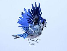 sculpture:  shape, form, texture: Paper Bird