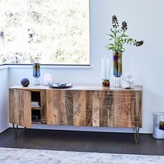 "Roar + Rabbit™ Brass Geo Inlay Media Console (68"") 