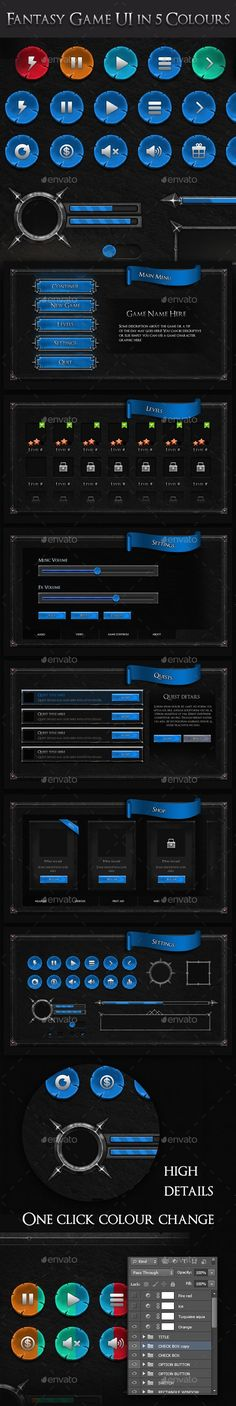 621 Best Royalty Free Game User UI Templates - Game Assets images in