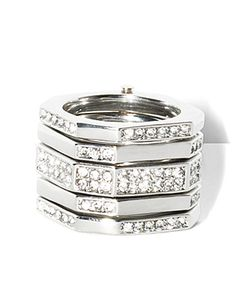 STACKED RINGS SILVER, Vince Camuto. Need!!