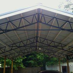 Steel Truss DIY carport from Armour Metals