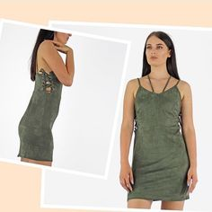 LIMITED STOCK !!! Green with envy dress ! #suedette #dress