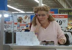 These people of Walmart are the weirdest and funniest. You never fail to depress the rest of us about the state of humanity. People Of Walmart, Only At Walmart, Hey Arnold, Tina Turner, Epic Fail Pictures, Funny Pictures, Crazy Pictures, Walmart Lustig, Hair Fails