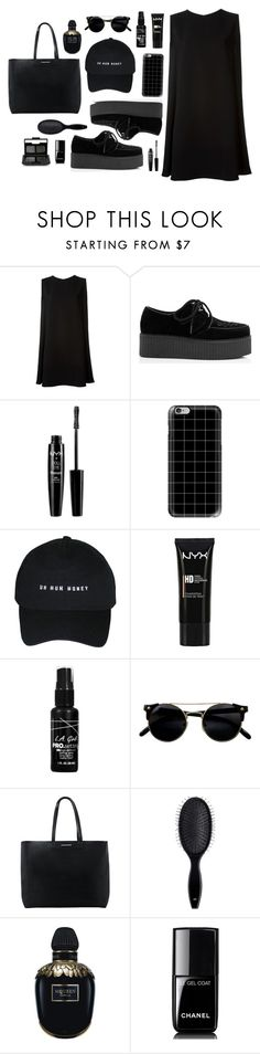 """Better In Black #2"" by anandptr on Polyvore featuring McQ by Alexander McQueen, NYX, Casetify, MANGO, H&M, Alexander McQueen, Chanel, NARS Cosmetics, outfit and ootd"