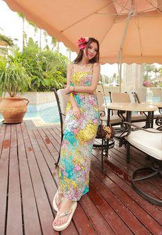 Yellow Spaghetti Strap Maxi Dress