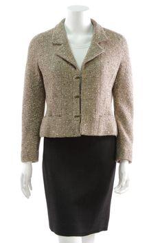 The Beige Bouclé Jacket Chanel Style Jacket, Couture Jackets, Boucle Jacket, Chanel Couture, Beige, Chanel Fashion, Vintage Chanel, Blazer, Sweaters