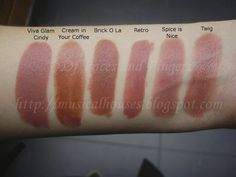 MAC Pinky-Brown Neutral Lipstick Swatches! (might not be up-to-date / available...)