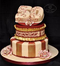 50th Elegant cake