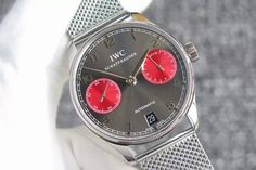 IWC Portuguese Real PR IW500126 YLF 1:1 Best Edition Gray/Red Dial on SS Bracelet A52010 V3