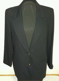 Alfred Dunner Petite Women's Blazer Suit Jacket Black Size 10 Free SHIP | eBay
