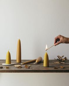 A glow for the mornings and nights as they draw in. We love the bees so are happy to now have a selection of pure English beeswax candles hand dipped with a natural golden tone and a subtle honey scent that only those wonderous little bees can create.