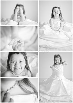 Little girl in her mom's wedding dress.. Love it!