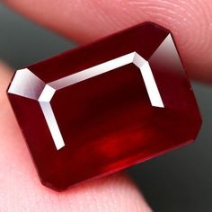 7.02CT.INTERESTING! OCTAGON FACET TOP BLOOD RED NATURAL RUBY MADAGASCAR #GEMNATURAL