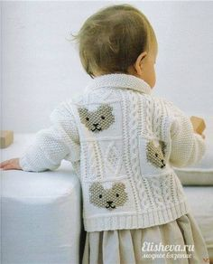 Vintage Knitting Pattern PDF Teddy Bear Cardigan for Baby Toddler Jacket Coat Aran Style Cable Moss Seed Stitch Baby Knitting Patterns, Baby Patterns, Vintage Patterns, Free Knitting, Crochet Pattern, Knitting Needles, Knitting Tutorials, Knitting Charts, Knitting Projects