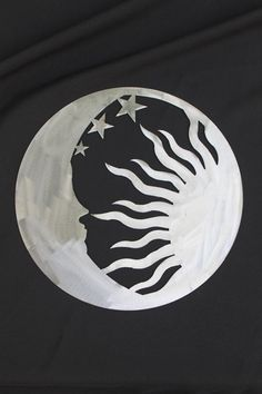 Sun / Moon Wall Art by CharlestonHarborDes on Etsy ---  would also be a cool tattoo.  Maybe using the negative space.
