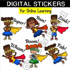 This is a fantastic set of digital superhero stickers to reward your student's work. Classroom Tools, Classroom Activities, Classroom Management, Fun Activities, Google Classroom, Classroom Decor, Teacher Notes, Best Teacher, Home Schooling