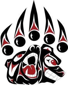 "A Powerful Path""  - Bear Paw Print  8x10 to 24x36 by Coast Salish Artist, Darrell Thorne"