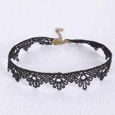 2016 Cotton Lace Choker Necklace Adjustable Chain