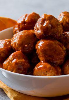 Slow Cooker BBQ Turkey Meatballs