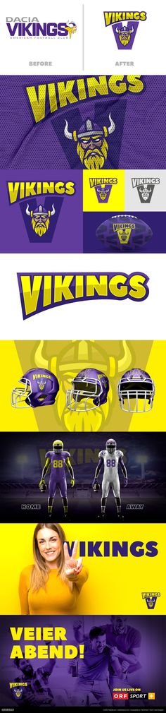 This is a fun project to keep my hand in. My Portfolio, Vienna, Fun Projects, Vikings, Branding Design, Football, Concept, The Vikings, Soccer