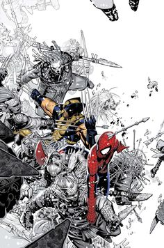 Wolverine & Spider-Man by Chris Bachalo