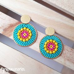 Peyote Stitch, Interior Design Living Room, Color Turquesa, Frame, Earrings, Beads, Crafts, Diy, Skirt Outfits