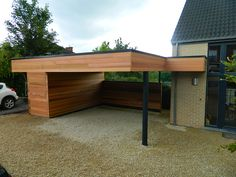 42 Modern Garage Canopy Ideas - Everybody around the world whether you are male or female, young or old, like to take care of their cars and other motor vehicles. This is highly unde. Modern Carport, Modern Garage, Modern Exterior, Garage Canopies, Carport Canopy, Building A Carport, Carport Garage, Diy Garage, Garage Ideas