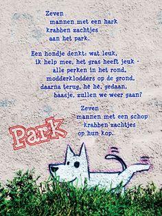 Aan de muur - Poëzieposters - poëzieposter Park Edward van de Vendel - Plint