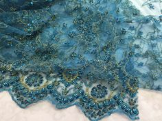 Small Plum Handmade Bead Lace Fabric ,Wedding Dress Lace Fabric ,Embroidery Crystal Pearl Beading Lace Fabric