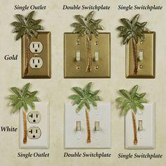 bathroom decor palm tree/ tropical theme