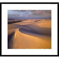 Global Gallery Sand Dunes, White Sands National Monument, New Mexico by Tim Fitzharris Framed Photographic Print Size:
