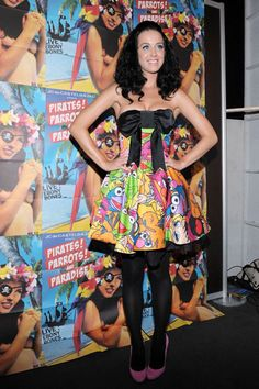 katy perry in a muppets dress