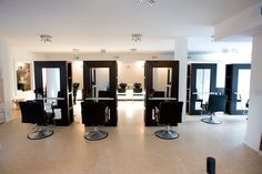The Best Hair Salons in America 2014 - List of the 100 Best Hair Salons n the United States - Elle Hair Places, Salon Stations, Best Hair Salon, States In America, United States, Retail Design, Rustic, Living Room, Beauty
