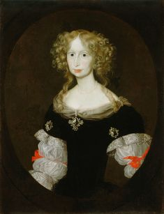 Portrait of an unknown noble lady (perhaps a member of the Auersperg family, an Austrian noble family with its roots in Carniola, present-day Slovenia) by the Almanach painter, c. 1670-80