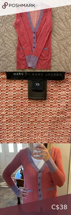 Marc Jacobs Sweater This delicate cardigan feels as beautiful as it looks. Made of silk/cashmere/and cotton it is a beautiful addition to any wardrobe. In excellent condition. Marc By Marc Jacobs Sweaters Cardigans