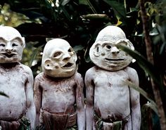 Asaro mud men from Pogla, a village near Mount Hagen in Papua New Guinea.  PHOTO: Anson Smart