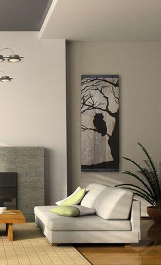 Reclaimed Barn Wood Wall Art - Owl Silhouette in Bare Tree by TKreclaimedART on Etsy https://www.etsy.com/listing/174147837/reclaimed-barn-wood-wall-art-owl