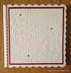 Handmade embossed Christmas card £2.00