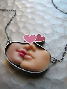 Barbies turned into jewelry! <3