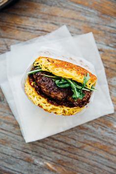Ramen Burger from Tokio Pub  #LettuceEntertainYou #LettuceEats #Ramen #RamenBurger #TokioPub #NationalBurgerMonth #Delicious