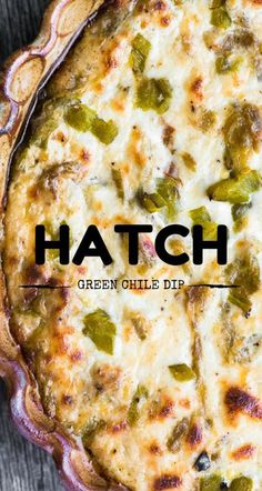 Hatch Green Chile Pepper Dip is the ultimate game night grub! from @slmoran21