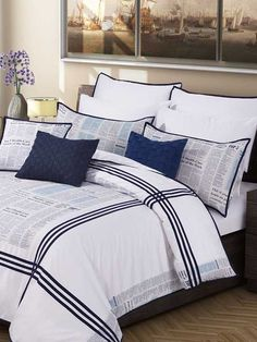 News Print 8 piece quilt cover set 400 thread Count Sateen - Did you read the newspaper today? Read now! With our digitally newspaper printed design bed set that will add an astonished and new look to your room.