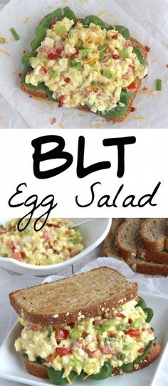 Perfect after Easter ... and for summer picnics! This BLT Egg Salad has all the crowd-pleasing flavors of a BLT sandwich, in a healthy egg salad recipe! Delicious as a sandwich or as a salad … even as an appetizer dip! | www.TwoHealthyKitchens.com
