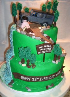 Mountain / Off Roading / Kenny Chesney cake By Vwfiles on CakeCentral.com