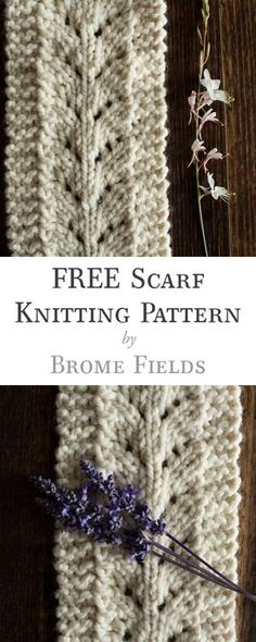 FREE Scarf Knitting Pattern