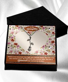 Special Birthday Gifts, Birthday Gifts For Her, Daughter Necklace, Message Card, Sentimental Gifts, Beautiful Gift Boxes, Meaningful Gifts, Silver Roses, Family Gifts